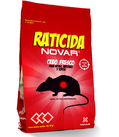 Raticida cebo fresco 150 grs